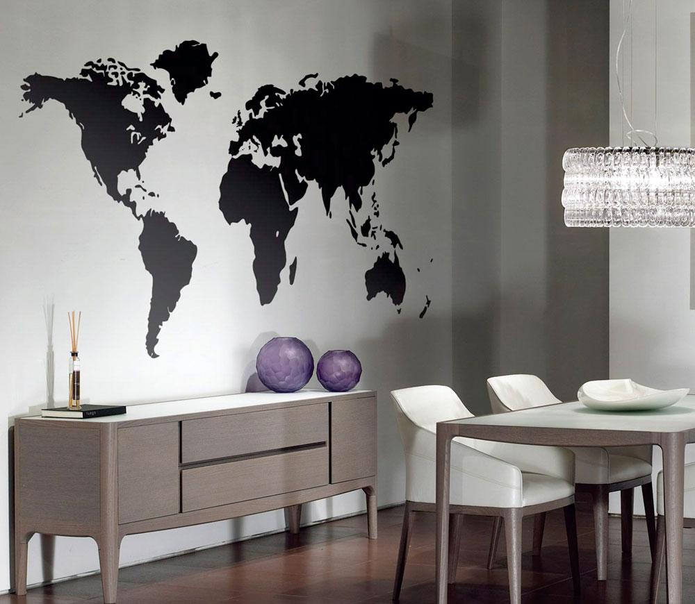 Vinilo decorativo para pared mapa mundo